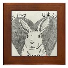 Rabbit Rescue Adoption Framed Tile