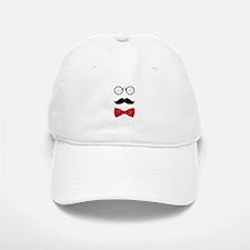 Gentleman Scholar Mustache Bowtie Glasses Baseball Baseball Cap