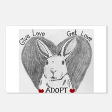 Rabbit Rescue Adoption Postcards (Package of 8)
