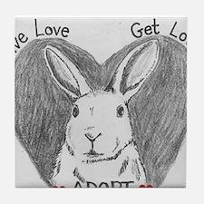 Rabbit Rescue Adoption Tile Coaster