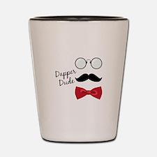 Dapper Dude Shot Glass