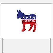 Oregon Democrat Donkey Yard Sign