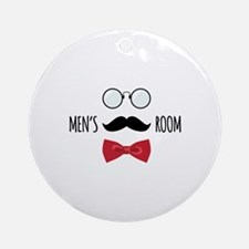 Mens Room Ornament (Round)