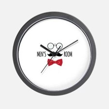 Mens Room Wall Clock