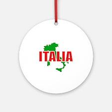 Italia Map Ornament (Round)