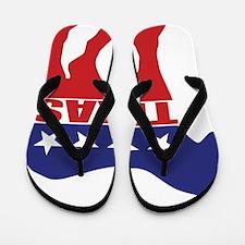 Texas Democrat Donkey Flip Flops
