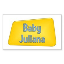 Baby Juliana Rectangle Decal