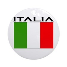 Italia Flag II Ornament (Round)