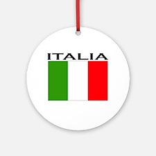 Italia Flag II Ornament (Round)