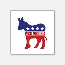 West Virginia Democrat Donkey Sticker