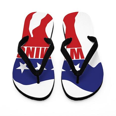 Wyoming Democrat Donkey Flip Flops
