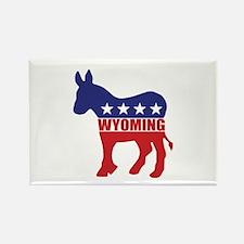 Wyoming Democrat Donkey Magnets