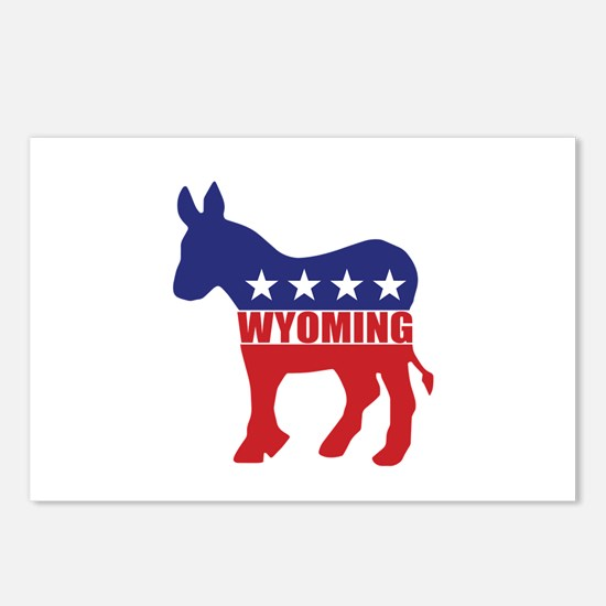 Wyoming Democrat Donkey Postcards (Package of 8)