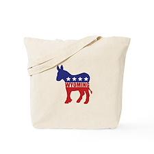 Wyoming Democrat Donkey Tote Bag