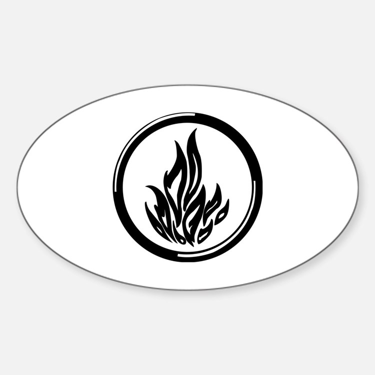 Dauntless symbol Sticker (Oval)