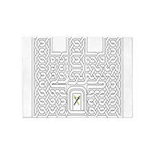 Celtic Knot Castle 5'x7'Area Rug