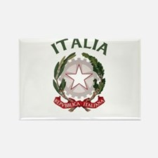 Italia Coat of Arms Rectangle Magnet (10 pack)