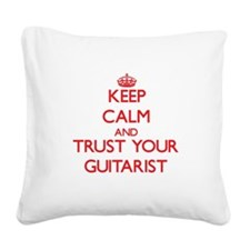 Keep Calm and trust your Guitarist Square Canvas P