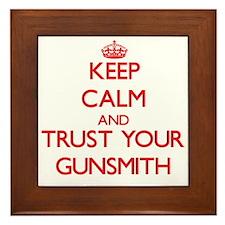 Keep Calm and trust your Gunsmith Framed Tile