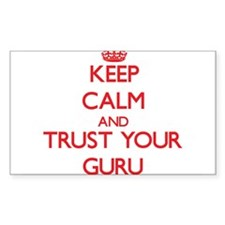 Keep Calm and trust your Guru Decal