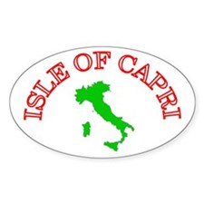Isle of Capri Oval Decal