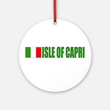 Isle of Capri Ornament (Round)