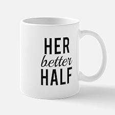 her better half, word art, text design Mugs