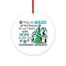 Scleroderma ChristmasPenguins1 Ornament (Round)