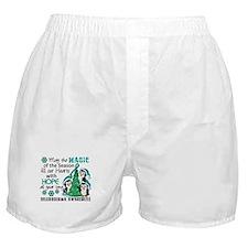 Scleroderma ChristmasPenguins1 Boxer Shorts