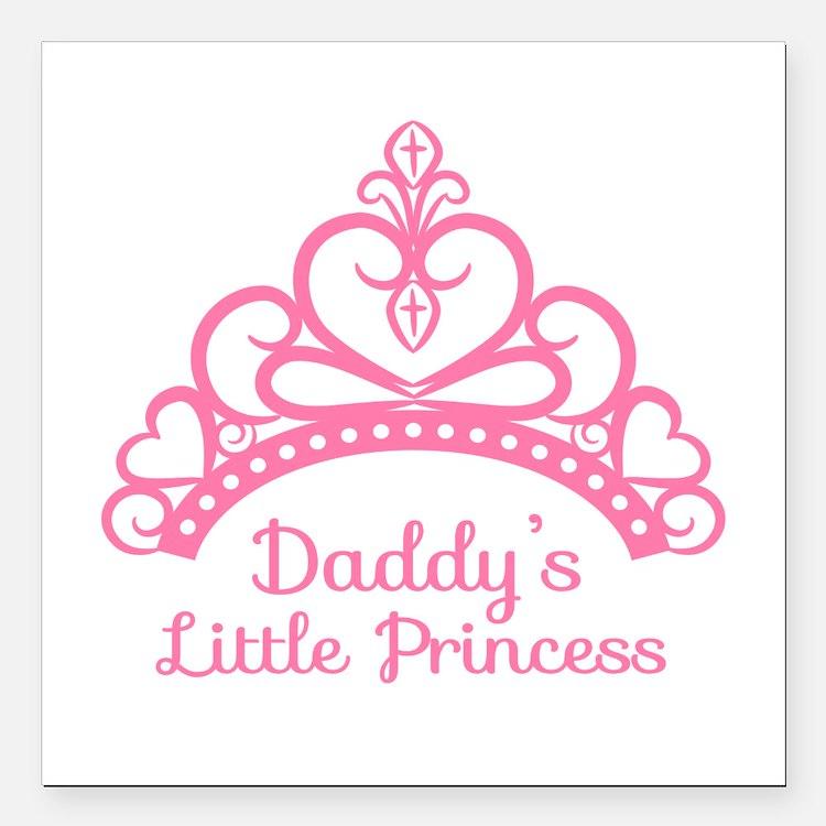 Daddys Little Princess, Elegant Tiara Square Car M