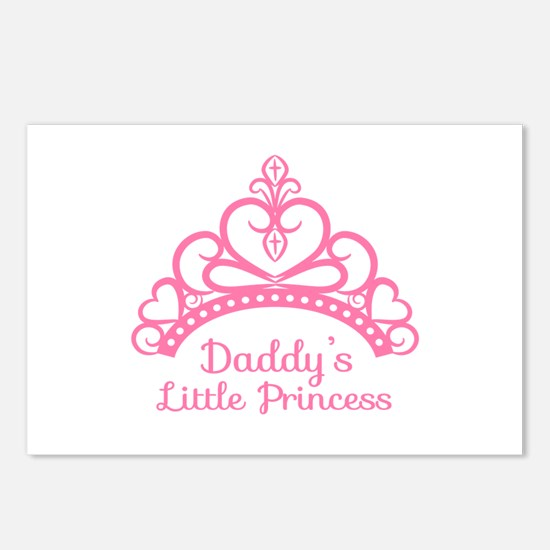 Daddys Little Princess, Elegant Tiara Postcards (P