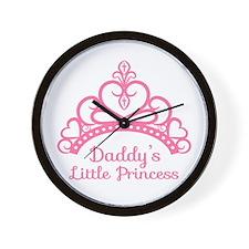 Daddys Little Princess, Elegant Tiara Wall Clock