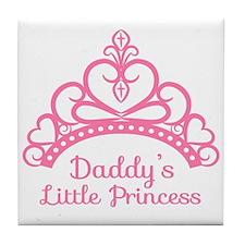 Daddys Little Princess, Elegant Tiara Tile Coaster
