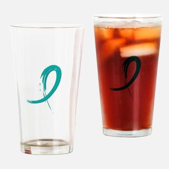 Scleroderma GraffitiRibbon1 Drinking Glass