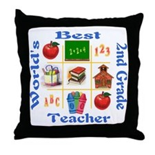 2nd grade Throw Pillow