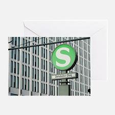 S-Bahn sign for Potsdamer Platz, Ber Greeting Card