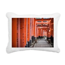 empty temple footpath Rectangular Canvas Pillow