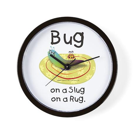 Bug on a Slug on a Rug Wall Clock