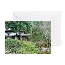 Japanese Tea House Greeting Card