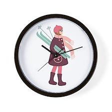 Ski Girl Wall Clock