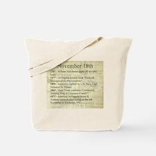 November 18th Tote Bag