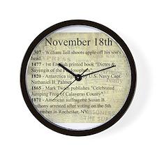 November 18th Wall Clock