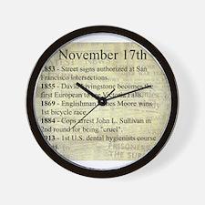November 17th Wall Clock