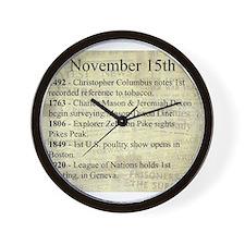 November 15th Wall Clock