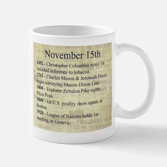 November 15th Mugs
