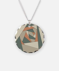 Earth Tone Shapes Construct Necklace