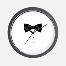 Black Bowtie Groom Gentlemen Wall Clock