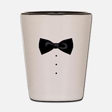 Black Bowtie Groom Gentlemen Shot Glass