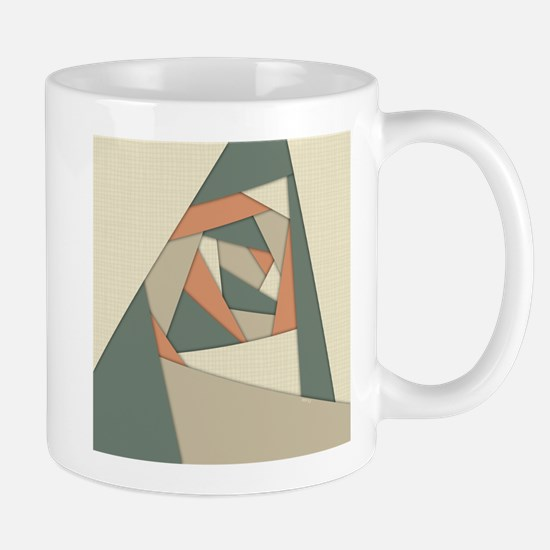 Earth Tone Shapes Construct Mugs