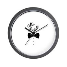Mr. Right Wall Clock